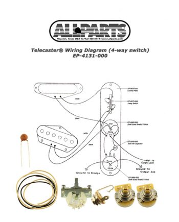 allparts ep4130000 wiring kit for tele 3way switch